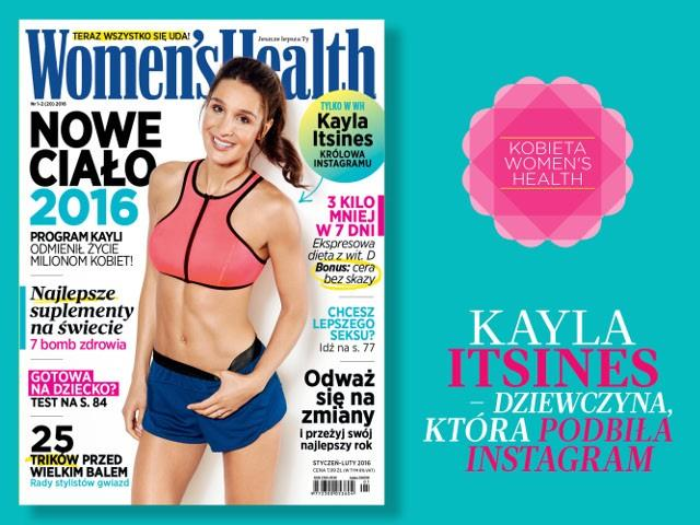 okładka Women's Health 01/2016