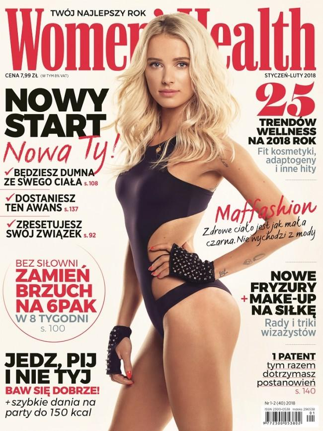 Maffashion na okładce Womens Health 01-02_2018